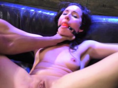 Teen eaten out while tied